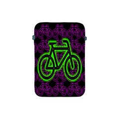 Bike Graphic Neon Colors Pink Purple Green Bicycle Light Apple Ipad Mini Protective Soft Cases