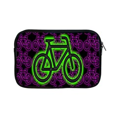 Bike Graphic Neon Colors Pink Purple Green Bicycle Light Apple Ipad Mini Zipper Cases by Alisyart