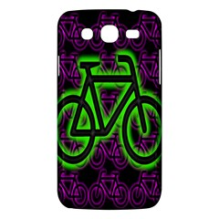 Bike Graphic Neon Colors Pink Purple Green Bicycle Light Samsung Galaxy Mega 5 8 I9152 Hardshell Case