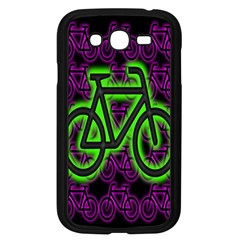 Bike Graphic Neon Colors Pink Purple Green Bicycle Light Samsung Galaxy Grand Duos I9082 Case (black)