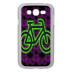Bike Graphic Neon Colors Pink Purple Green Bicycle Light Samsung Galaxy Grand Duos I9082 Case (white)