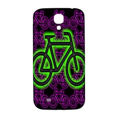 Bike Graphic Neon Colors Pink Purple Green Bicycle Light Samsung Galaxy S4 I9500/i9505  Hardshell Back Case
