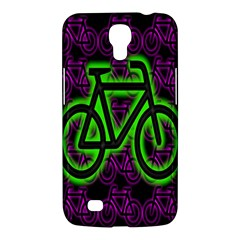 Bike Graphic Neon Colors Pink Purple Green Bicycle Light Samsung Galaxy Mega 6 3  I9200 Hardshell Case