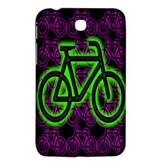 Bike Graphic Neon Colors Pink Purple Green Bicycle Light Samsung Galaxy Tab 3 (7 ) P3200 Hardshell Case