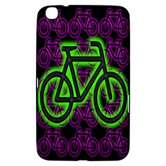 Bike Graphic Neon Colors Pink Purple Green Bicycle Light Samsung Galaxy Tab 3 (8 ) T3100 Hardshell Case