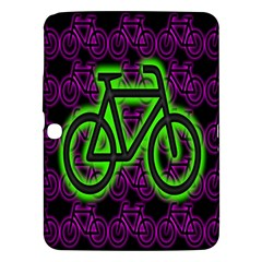 Bike Graphic Neon Colors Pink Purple Green Bicycle Light Samsung Galaxy Tab 3 (10 1 ) P5200 Hardshell Case