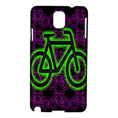 Bike Graphic Neon Colors Pink Purple Green Bicycle Light Samsung Galaxy Note 3 N9005 Hardshell Case