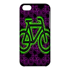 Bike Graphic Neon Colors Pink Purple Green Bicycle Light Apple Iphone 5c Hardshell Case by Alisyart