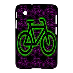 Bike Graphic Neon Colors Pink Purple Green Bicycle Light Samsung Galaxy Tab 2 (7 ) P3100 Hardshell Case