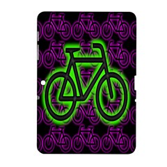 Bike Graphic Neon Colors Pink Purple Green Bicycle Light Samsung Galaxy Tab 2 (10 1 ) P5100 Hardshell Case
