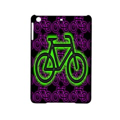 Bike Graphic Neon Colors Pink Purple Green Bicycle Light Ipad Mini 2 Hardshell Cases by Alisyart