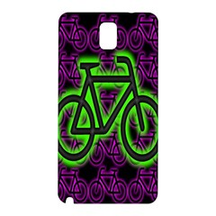 Bike Graphic Neon Colors Pink Purple Green Bicycle Light Samsung Galaxy Note 3 N9005 Hardshell Back Case