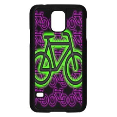 Bike Graphic Neon Colors Pink Purple Green Bicycle Light Samsung Galaxy S5 Case (black)