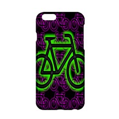 Bike Graphic Neon Colors Pink Purple Green Bicycle Light Apple Iphone 6/6s Hardshell Case by Alisyart