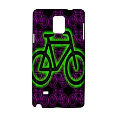 Bike Graphic Neon Colors Pink Purple Green Bicycle Light Samsung Galaxy Note 4 Hardshell Case