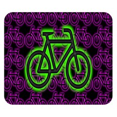 Bike Graphic Neon Colors Pink Purple Green Bicycle Light Double Sided Flano Blanket (small)  by Alisyart
