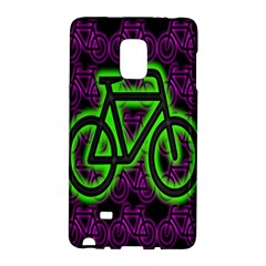 Bike Graphic Neon Colors Pink Purple Green Bicycle Light Galaxy Note Edge