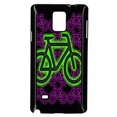 Bike Graphic Neon Colors Pink Purple Green Bicycle Light Samsung Galaxy Note 4 Case (black)