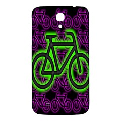 Bike Graphic Neon Colors Pink Purple Green Bicycle Light Samsung Galaxy Mega I9200 Hardshell Back Case