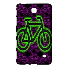 Bike Graphic Neon Colors Pink Purple Green Bicycle Light Samsung Galaxy Tab 4 (8 ) Hardshell Case  by Alisyart