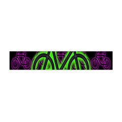 Bike Graphic Neon Colors Pink Purple Green Bicycle Light Flano Scarf (mini) by Alisyart
