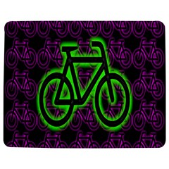 Bike Graphic Neon Colors Pink Purple Green Bicycle Light Jigsaw Puzzle Photo Stand (rectangular) by Alisyart