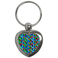 Bee Hive Color Disks Key Chains (heart)  by Amaryn4rt