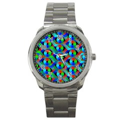 Bee Hive Color Disks Sport Metal Watch by Amaryn4rt