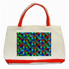 Bee Hive Color Disks Classic Tote Bag (red) by Amaryn4rt
