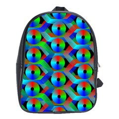 Bee Hive Color Disks School Bags(large)  by Amaryn4rt