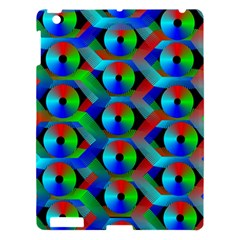 Bee Hive Color Disks Apple Ipad 3/4 Hardshell Case by Amaryn4rt