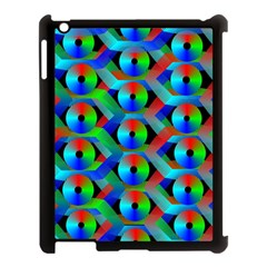 Bee Hive Color Disks Apple Ipad 3/4 Case (black) by Amaryn4rt