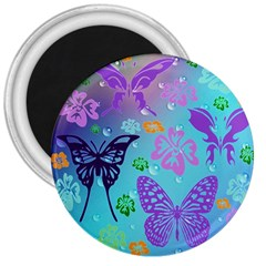 Butterfly Vector Background 3  Magnets by Amaryn4rt