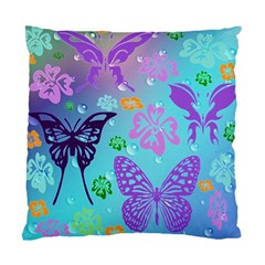 Butterfly Vector Background Standard Cushion Case (one Side) by Amaryn4rt