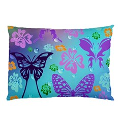 Butterfly Vector Background Pillow Case by Amaryn4rt