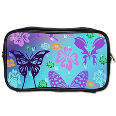 Butterfly Vector Background Toiletries Bags by Amaryn4rt