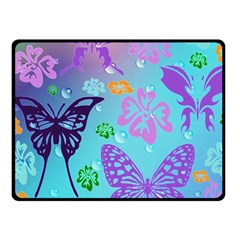 Butterfly Vector Background Fleece Blanket (small) by Amaryn4rt