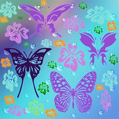 Butterfly Vector Background Magic Photo Cubes by Amaryn4rt