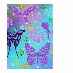 Butterfly Vector Background Small Garden Flag (two Sides) by Amaryn4rt