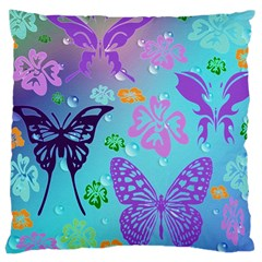 Butterfly Vector Background Large Cushion Case (one Side) by Amaryn4rt
