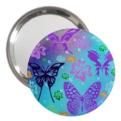 Butterfly Vector Background 3  Handbag Mirrors by Amaryn4rt