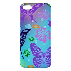 Butterfly Vector Background Iphone 5s/ Se Premium Hardshell Case by Amaryn4rt