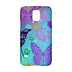 Butterfly Vector Background Samsung Galaxy S5 Hardshell Case  by Amaryn4rt