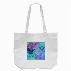 Butterfly Vector Background Tote Bag (white)
