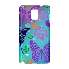Butterfly Vector Background Samsung Galaxy Note 4 Hardshell Case by Amaryn4rt