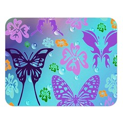 Butterfly Vector Background Double Sided Flano Blanket (large)  by Amaryn4rt