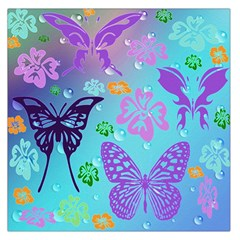 Butterfly Vector Background Large Satin Scarf (square) by Amaryn4rt