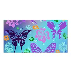 Butterfly Vector Background Satin Shawl by Amaryn4rt