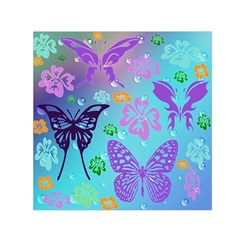 Butterfly Vector Background Small Satin Scarf (square) by Amaryn4rt