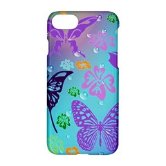 Butterfly Vector Background Apple Iphone 7 Hardshell Case by Amaryn4rt